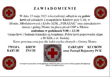 Oddaj krew! 15 maja zbiórka krwi!